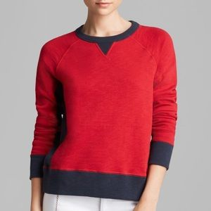 Rag and Bone red and navy sweater pullover